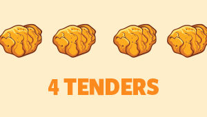 POULET CRISPY – SOLO – 4 TENDERS